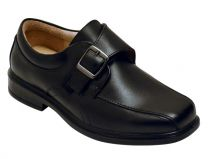 Benelaccio Boys Dress Shoes, Boys Formal Shoes, Black Velcro Shoes with Buckle