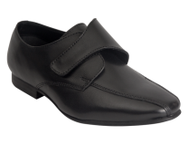 Benelaccio Boys Dress Shoes, Boys Formal Shoes, Black Velcro Shoes with Buckle (403)