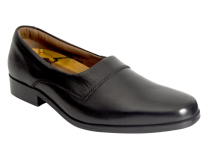 Wizfort Black Leather Sole Slip On Loafers for Men - Open Loafers
